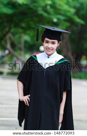 Female graduate wear graduation cap,asian women