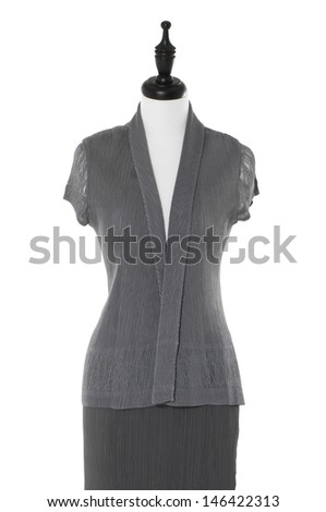 female gray dress on mannequin