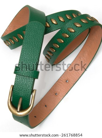 Female green belt with metal inserts