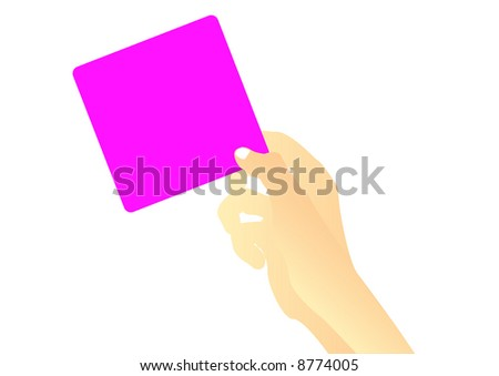 female hand holding pink sticky note