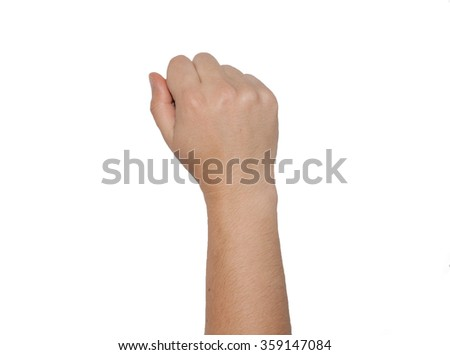 female hand isolated white background - stock photo