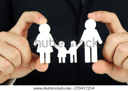 Female hands and chain family, closeup - stock photo