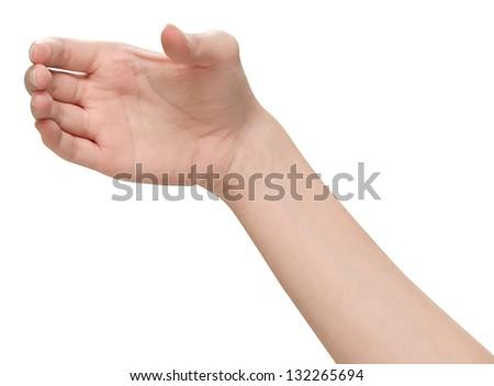 Female hands holding - stock photo