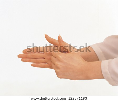 Female hands used for sign language