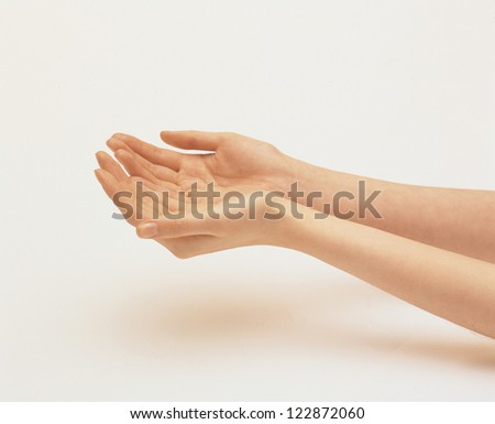Female hands with palms up