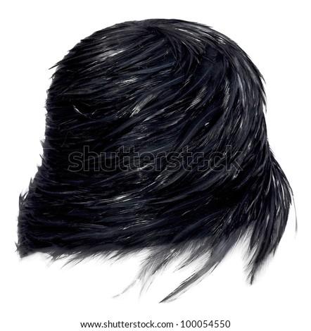 Female hat isolated on white - stock photo