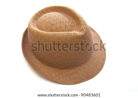 Female hat isolated on white  background