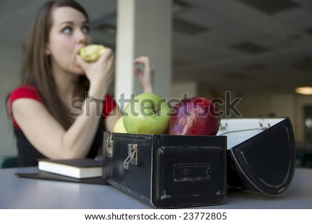 Female high school, college or university student - stock photo