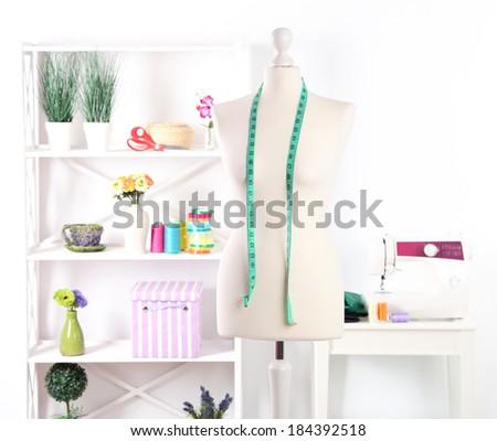 Female mannequin in creative studio - stock photo