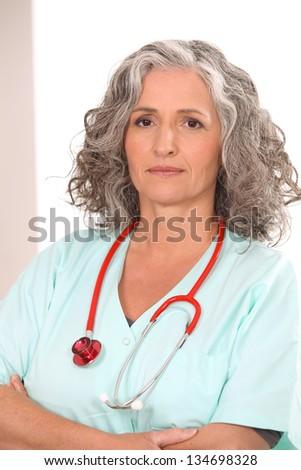 Female nurse - stock photo