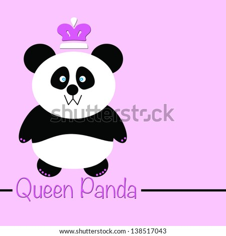 Female Panda Bear with a Queen Crown
