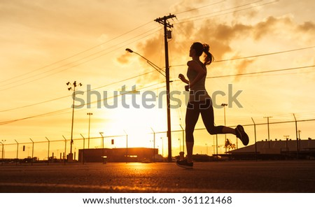 Female runner - stock photo