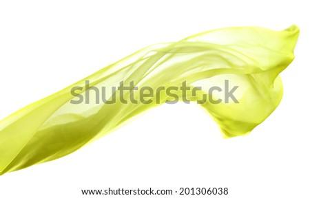 Female scarf isolated on white - stock photo