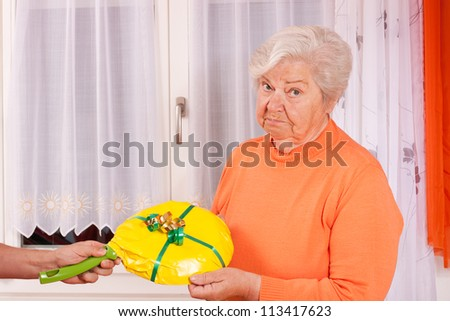 female senior gets an uninspired present