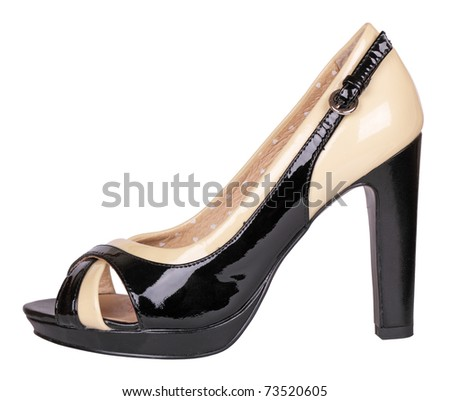 Female shoe, it is isolated on a white background