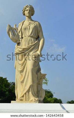 Female statue made of marble, Thailand. - stock photo
