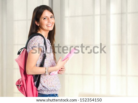Female student portrait - stock photo