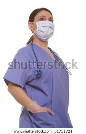 Female surgeon ready for surgery - stock photo