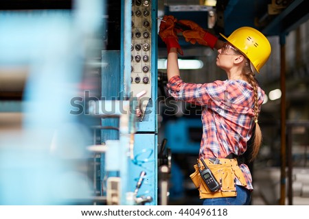 Female technician