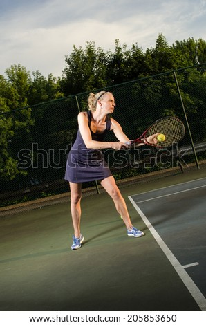 Female tennis player - stock photo