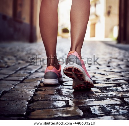 Traveling And Standing Of Feet Walking Shoes