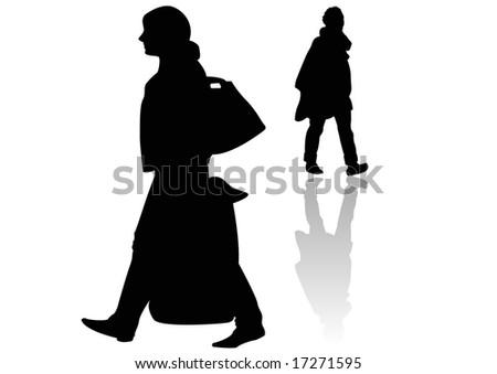 female walkers - stock photo