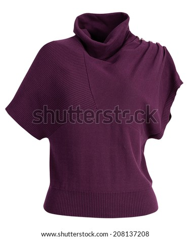 Female winter pullover for women isolate on white background