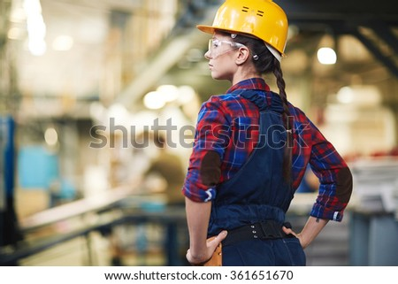 Female worker - stock photo