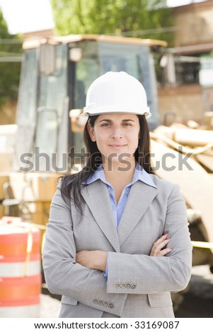 female worker at a construction site