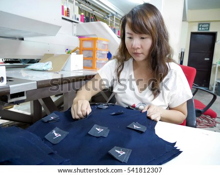 Female worker at garment factory