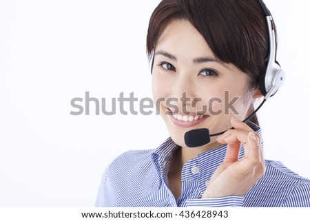Female young call center