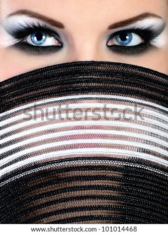 females with a hat - stock photo