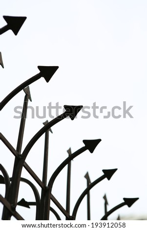 Fence and barbed wire - stock photo