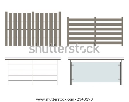 Fence collection - stock photo