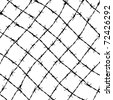 fence from barbed wires - stock photo