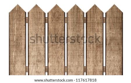 Fence Isolated on White - stock photo