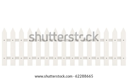Fence isolated on white - 3d illustration
