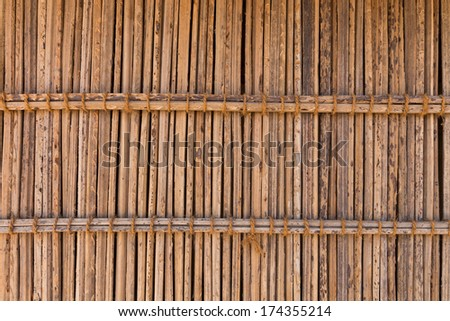 fence made of dry Straw, pattern background