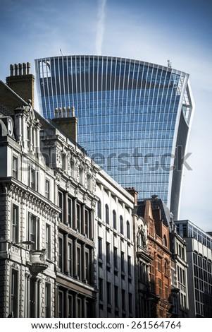 Fenchurch Street London - stock photo