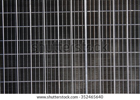 fencing mesh - stock photo
