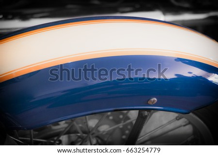 Fender Protection Old Retro Motorcycle Fender Stock Photo 663254779