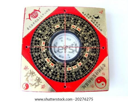 Feng shui compass (Luopan) - stock photo