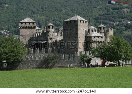 Fenis Castle, Aosta Valley, Northern Italy