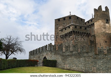 Fenis Castle in northern Italy