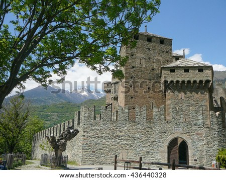 FENIS, ITALY - CIRCA MAY 2016: Fenis Castle in Aosta Valley