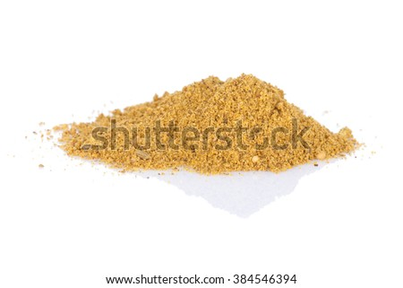 Fennel powder. Isolated on white background