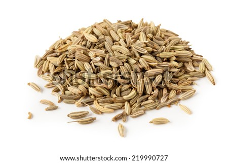 Fennel seeds isolated on a white background