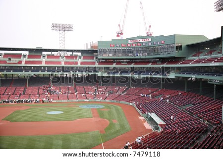 Fenway Park baseball Stadium in Boston Massachusetts, home to the Red Sox - stock photo