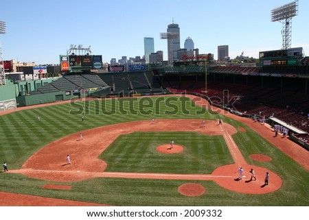 Fenway Park, home of the Boston Red Sox - stock photo