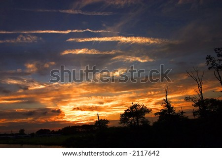 Fenwick Island Sunset, Delaware - stock photo